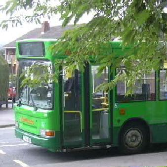 Nu Venture green bus
