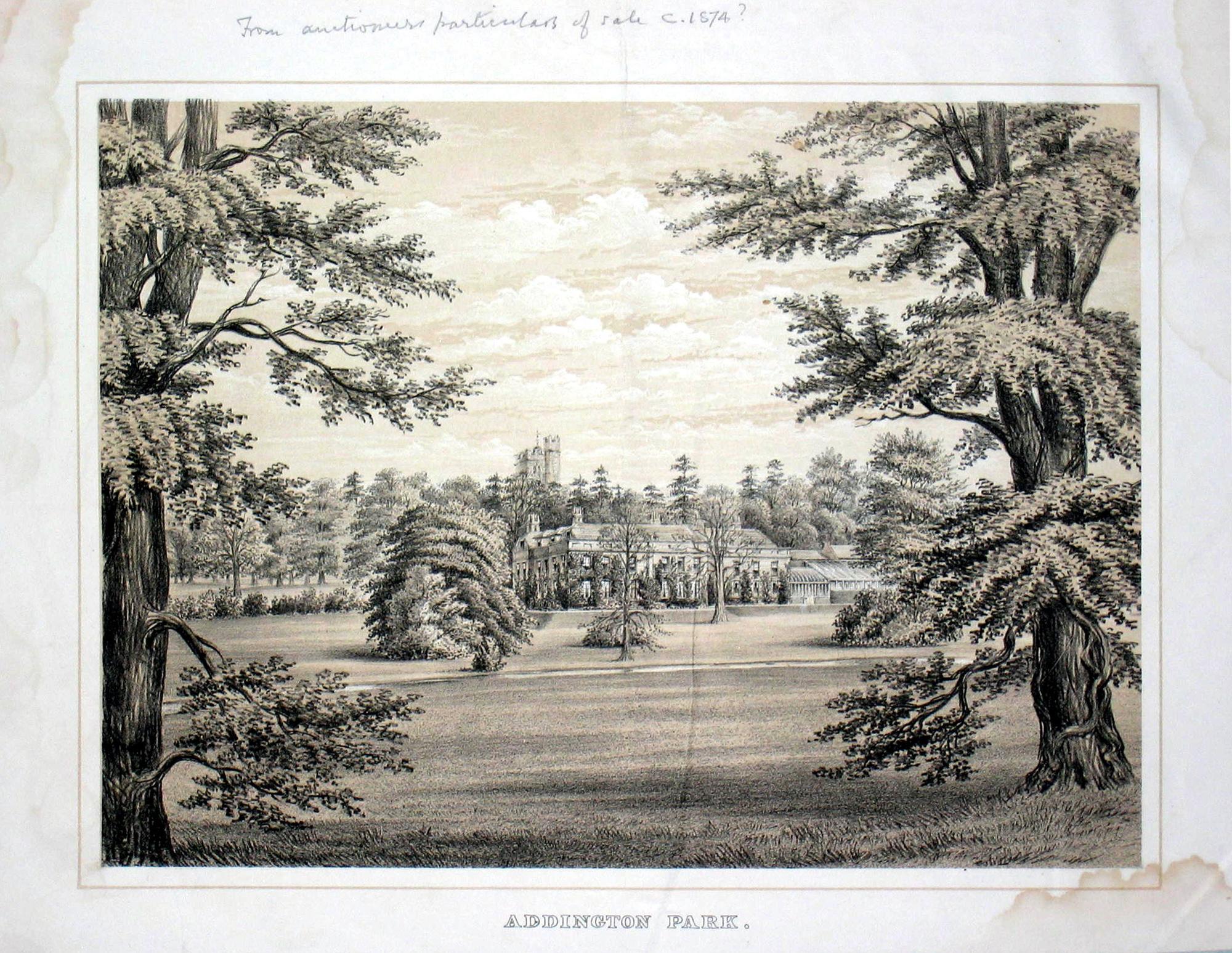 Addington Park 1883
