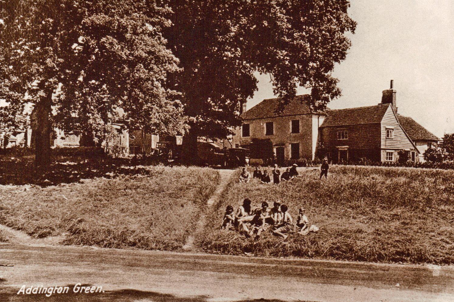 School children on Green 1930s