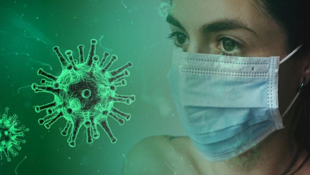 Coronavirus and lady wearing a mask