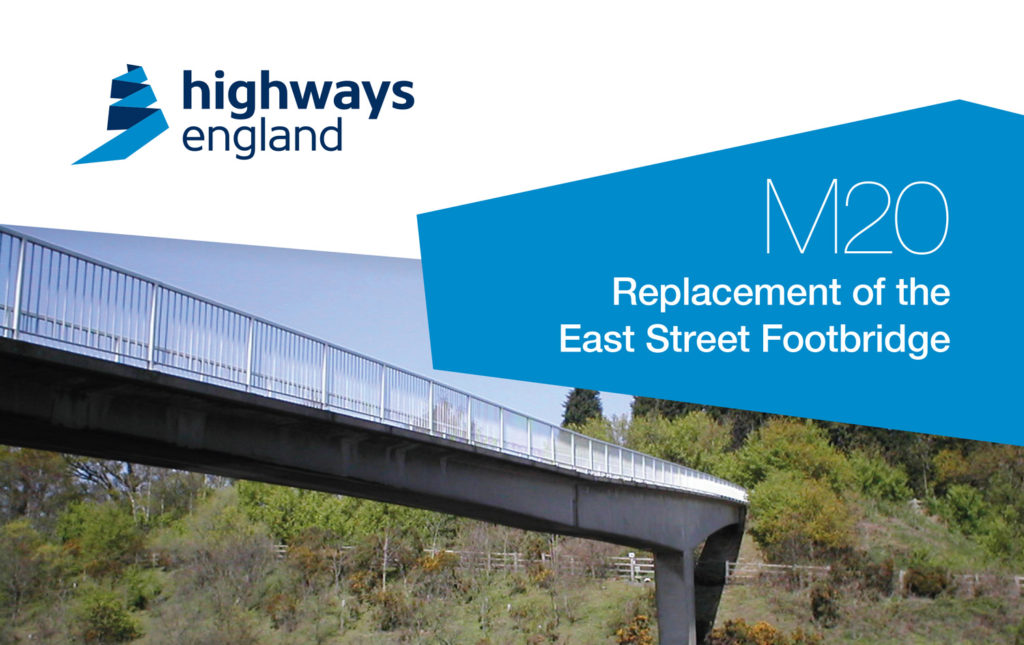 M20 East bridge banner from Highways England