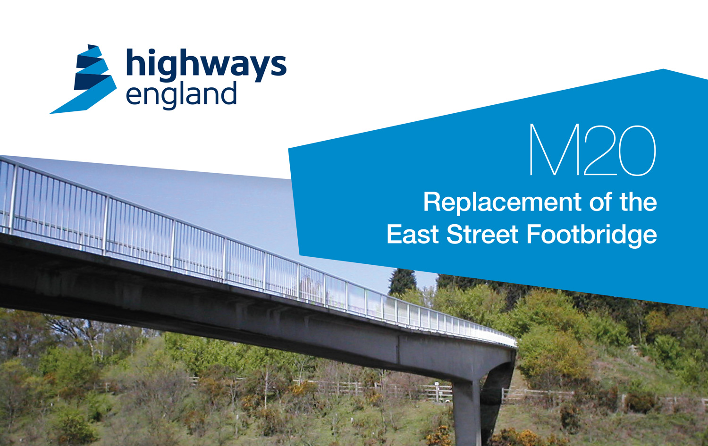 M20 East bridge banner from Highways England