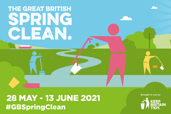 Join the Great British Spring Clean 28 May to 13 June 2021