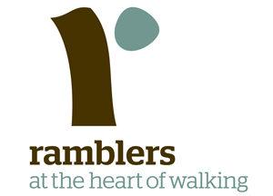 Ramblers logo - at the heart of walking