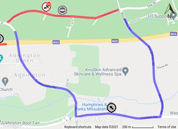 Woodgate Road diversion